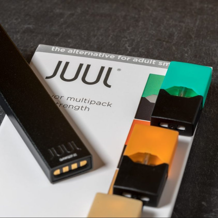 Consumers who use Juul electronic cigarettes may be at risk of developing stroke, seizures, lung problems, or other side effects.